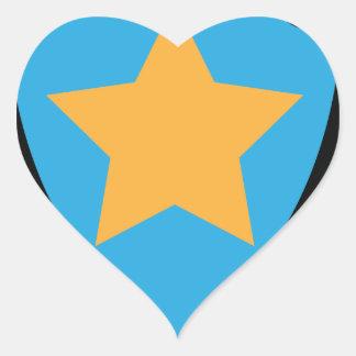 Stern Herz-Aufkleber