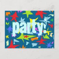 Stern Kindergeburtstag Party Einladung