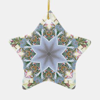 Stern-Mandala Ordament Keramik Ornament