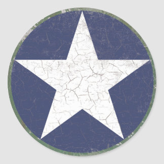 Stern Roundel rustikal Runder Sticker