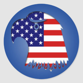 Stern Spangled Amerikaner Eagle Runder Aufkleber