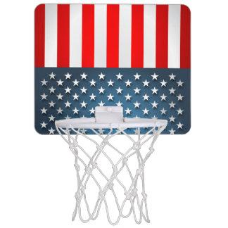 Stern-Spangled Art Mini Basketball Ring