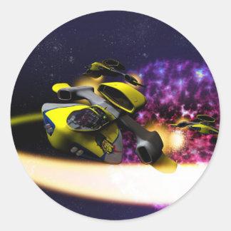 Sternantrieb-Aufkleber Runder Aufkleber