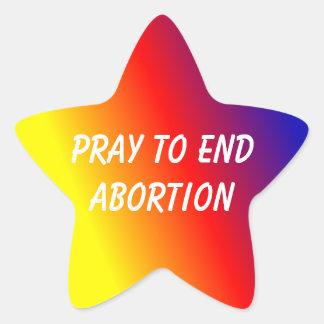 Sternaufkleber beten, um Abtreibung zu beenden Stern-Aufkleber
