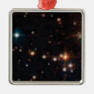 Sterne in den Himmeln Silbernes Ornament
