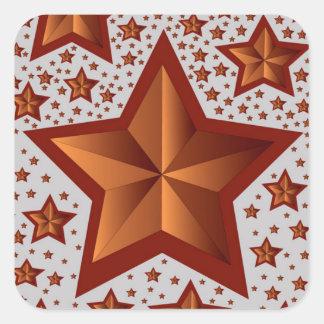 Sterne Quadratischer Aufkleber