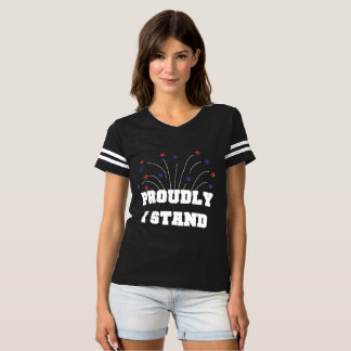 Sterne stolz stehe ich dunklen T - Shirt