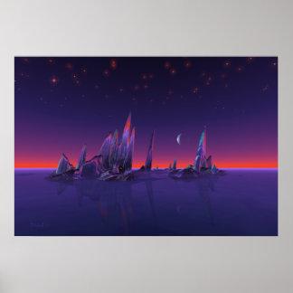Sternenklare Inseln Posterdruck