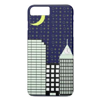Sternenklare Nacht im Stadttelefonkasten iPhone 8 Plus/7 Plus Hülle