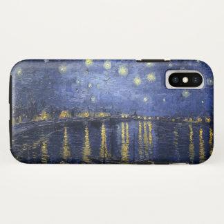 Sternenklare Nacht über der Rhône iPhone X Hülle