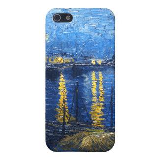 Sternenklare Nacht über der Rhône, Van Gogh iPhone 5 Schutzhüllen