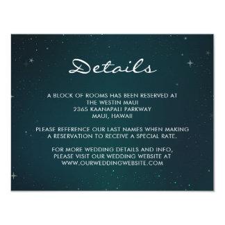 Sternenklare Nacht - unter der 10,8 X 14 Cm Einladungskarte