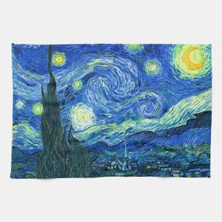 sternenklare Nacht Van Gogh Geschirrtuch