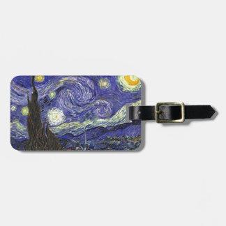 Sternenklare Nacht, Vincent van Gogh. Gepäckanhänger