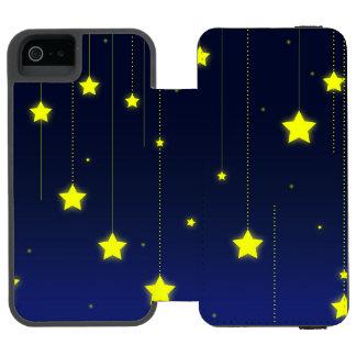 Sternenklare NachtiPhone Geldbörsen-Kasten Incipio Watson™ iPhone 5 Geldbörsen Hülle