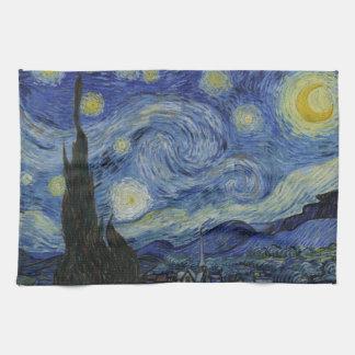 Sternenklare NachtVincent van Gogh-Malen Geschirrtuch
