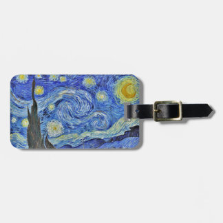Sternenklare NachtVincent van Goghs GalleryHD Gepäckanhänger