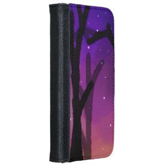 Sternenklarer Baum-Geldbörsen-Telefon-Kasten iPhone 6/6s Geldbeutel Hülle
