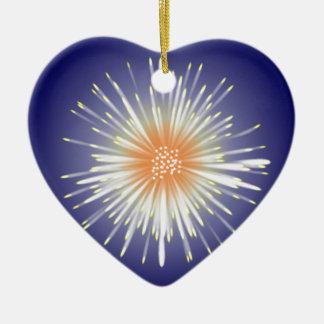 Sternexplosion Keramik Herz-Ornament