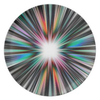 Sternexplosionexplosionsmuster Melaminteller
