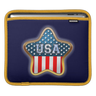Sternförmige amerikanische Flagge Sleeve Für iPads