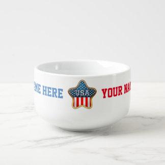 Sternförmige US-Flagge Große Suppentasse