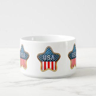 Sternförmige US-Flagge Schüssel