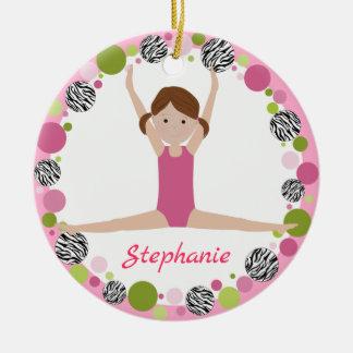Sterngymnast-Brown-Pony-Schwänze in den Rosa Keramik Ornament