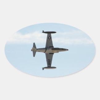 Sternschnuppe P-80 Ovaler Aufkleber