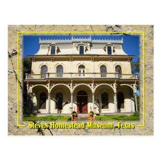 Steves Gehöft-Museum, San Antonio, TX Postkarte