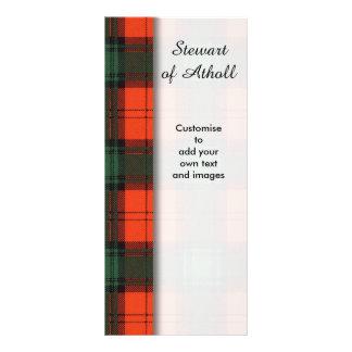 Stewart Atholl Clan karierten schottischen Tartan 12,2 X 22,9 Cm Kartendruck