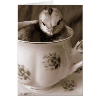 Stiefel in einer Tee-Schale Grußkarte