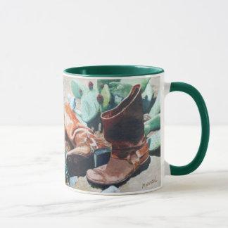 Stiefel und Kaktus Tasse