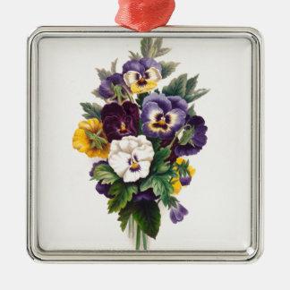 Stiefmütterchen Silbernes Ornament
