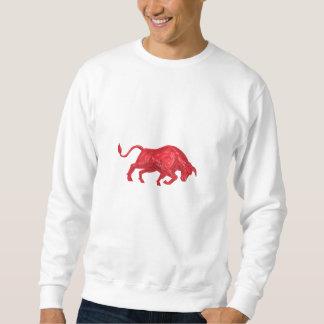 Stier-aufladenc$zeichnen Sweatshirt
