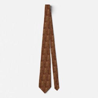 Stilisierter Vollweizen pirscht Muster an Bedruckte Krawatte