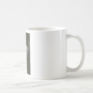 Stilisiertes | dunkles Brown Hintergrund-Logo des Tasse