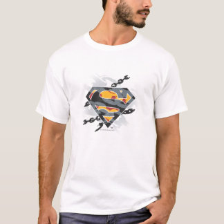 Stilisiertes | Ketten-Logo des Supermann- T-Shirt