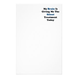 Stille Behandlung Individuelle Büropapiere