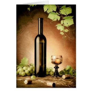 Stillleben des weißen Weins Karte