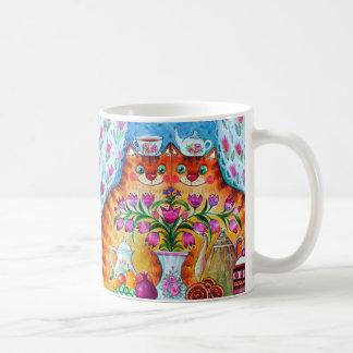 Stillleben mit Katzen Tasse