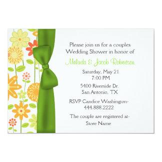 Stilvolle Blumenpaar-Polterabend-Einladung 12,7 X 17,8 Cm Einladungskarte