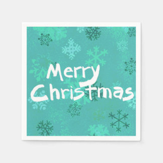 Stilvolle Cocktailserviette der frohen Weihnachten Papierservietten