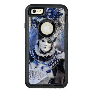Stilvolle Dame im blauen Karnevals-Kostüm OtterBox iPhone 6/6s Plus Hülle