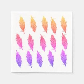 Stilvolle elegante Feder-Servietten Papierserviette