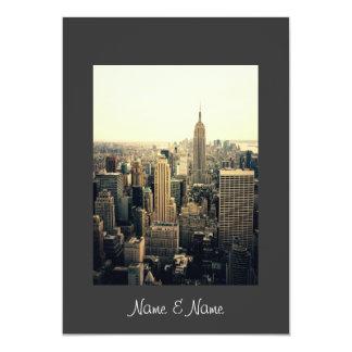 Stilvolle elegante New- Yorkhochzeits-Einladung 12,7 X 17,8 Cm Einladungskarte
