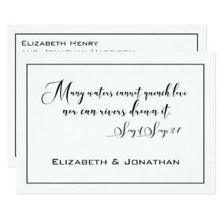 Stilvolle elegante Schwarzweiss-Hochzeit Karte