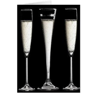 Stilvolle kundengerechte Glaskarte Champagne Karte