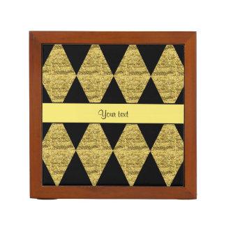 Stilvolle schwarze u. gelbe Glitter-Diamanten Stifthalter
