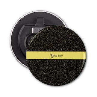 Stilvolle schwarzer u. gelber Glitter-Ministerne Flaschenöffner